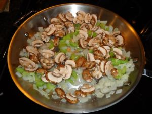 mushrooms, celery and onion